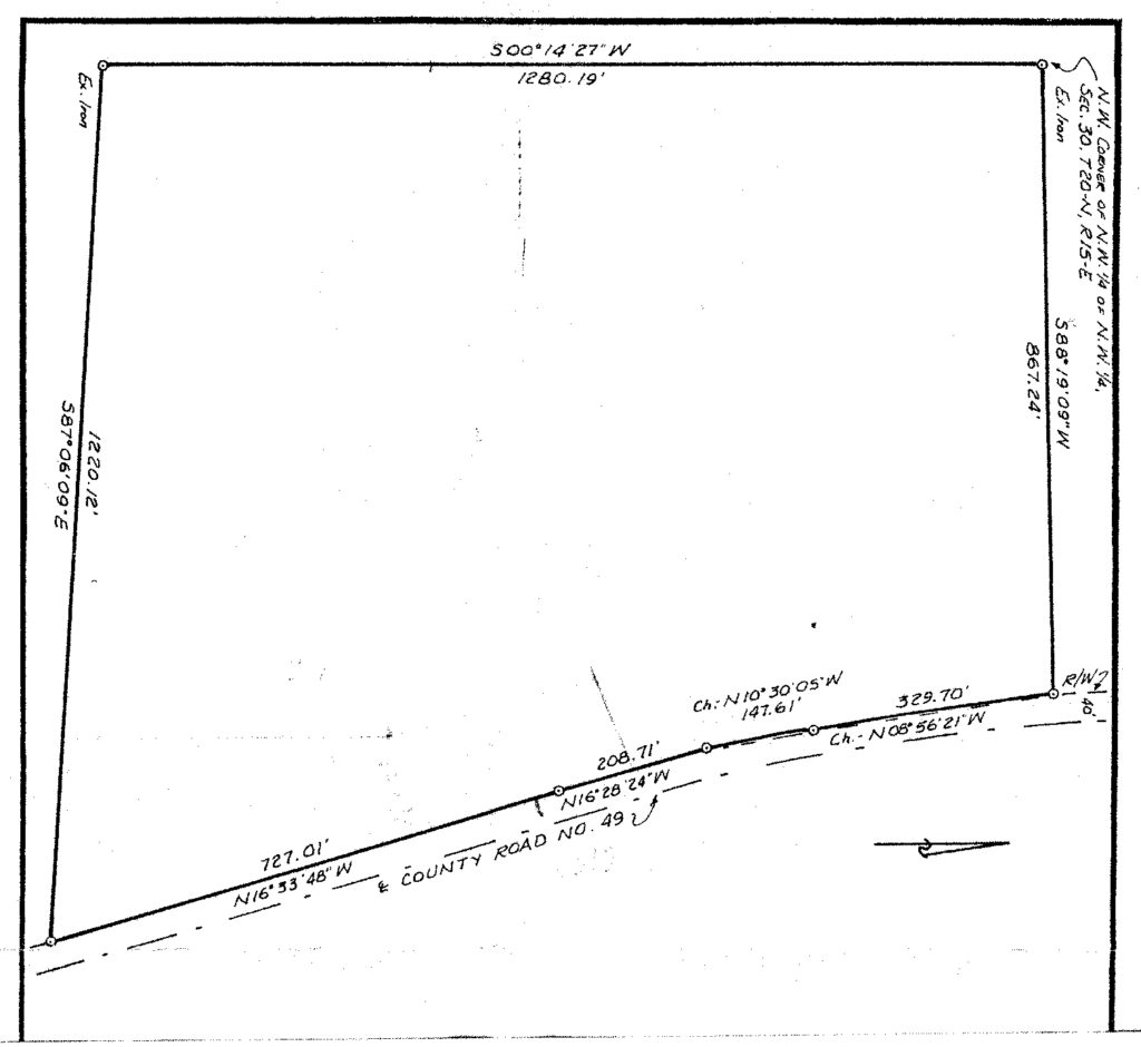 Boundary Survey - Old Survey Example