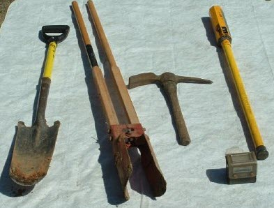 Surveying Tools - Metal Locator & Digging Tools
